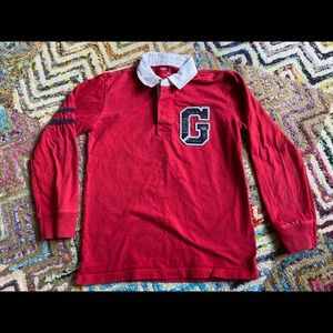 Boys Gap  Red Collared Long  sleeve shirt